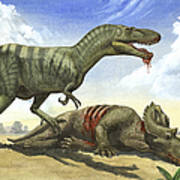 A Gorgosaurus Libratus Stands Art Print
