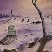 A  Grave Yard Art Print