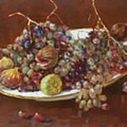 A Greek Summer Plate Art Print