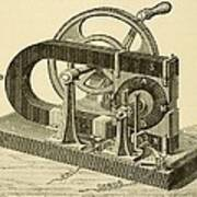 A Hand Cranked Device Onsisting Art Print