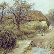 A Hill Farm Symondsbury Dorset Art Print by Helen Allingham