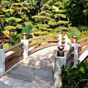 A Japanese Garden Bridge From Sun To Shade Art Print