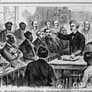 A Jury Of Whites And Blacks Art Print
