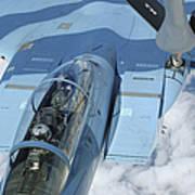 A Kc-135 Stratotanker Provides Art Print by Stocktrek Images