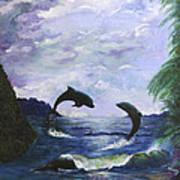 A Leap Of Faith Art Print by Judy M Watts-Rohanna