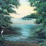 A Lone Egret Art Print