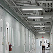 A Long Corridor In A Residential Unit Art Print