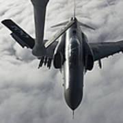 A Luftwaffe F-4f Phantom II Approaches Art Print