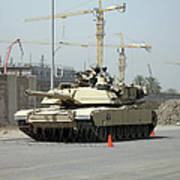 A M1 Abram Sits Out Front Of The New Art Print