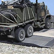 A Medium Tactical Vehicle Replenishment Art Print