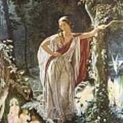 A Midsummer Night's Dream Hermia And The Fairies Art Print