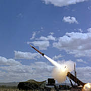 A Mim-104 Patriot Anti-aircraft Missile Art Print