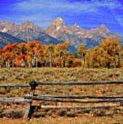 A Moment In Wyoming In Autumn Art Print