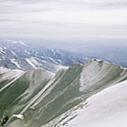 A Mountain Climber Hikes Art Print