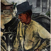 A Mule And A Plow. Resettlement Art Print