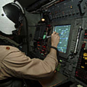 A Naval Flight Officer Tracks Aircraft Art Print