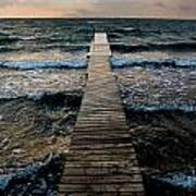 A Pier In The Water Art Print
