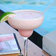 A Pink Sand Margarita Art Print by Hibberd, Shannon