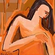 A Portrait Of A Woman Art Print