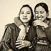 A Portrait Of Good Friends Art Print