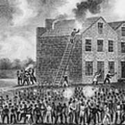 A Pro-slavery Mob Burning Art Print by Everett