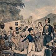 A Pro-slavery Portrayal Art Print by Everett