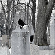 A Quiet Winter Day At The Graveyard Art Print