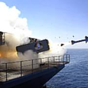 A Rim-7 Sea Sparrow Missile Launches Art Print
