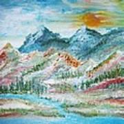 A River Runs Through  Art Print