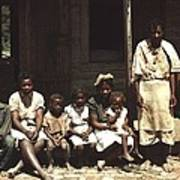 A Rural African American Family Seated Art Print