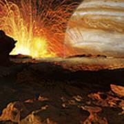 A Scene On Jupiters Moon, Io, The Most Art Print