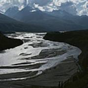 A Scenic View Of The Matanuska River Art Print