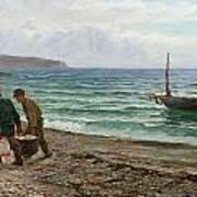 A Sea View Art Print by Colin Hunter
