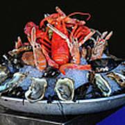 A Seafood Orgy Art Print