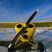 A Small Personal Aircraft Sitting Art Print