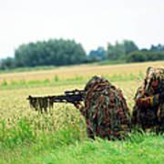 A Sniper Unit Of The Paracommandos Art Print by Luc De Jaeger