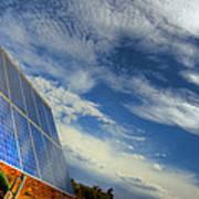 A Solar Panel In The Desert Of South Art Print