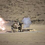 A Soldier Fires A Rocket-propelled Art Print