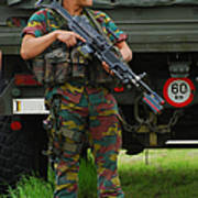A Soldier Of An Infantry Unit Art Print by Luc De Jaeger