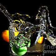 A Splash In The Glass Art Print
