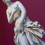A Statue Of Aphrodite At The Acropolis Art Print by Richard Nowitz