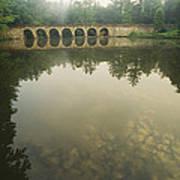 A Stone Bridge Built By The Civilian Art Print
