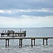 A Stormy Day On The Pamlico River Art Print