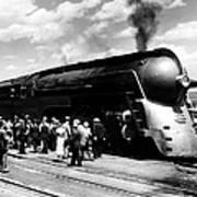 A Streamliner Train In Albany, New Art Print