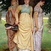 A Summer Shower Print by Charles Edward Perugini