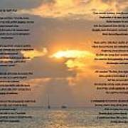 A Sunset A Poem - Victor Hugo Art Print