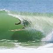 A Surfer Shoots The Curl Art Print