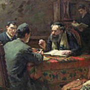 A Theological Debate Art Print