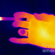 A Thermogram Of A Lit Cigarette Art Print by Ted Kinsman