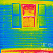 A Thermogram Of A Window Art Print